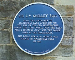 Photo of John Villiers Shelley blue plaque