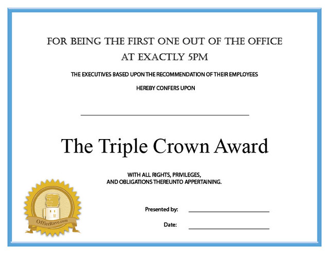 Free printable funny award certificates
