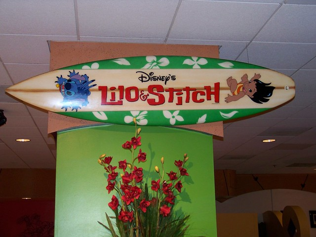 lilo amp stitch surfboard at the pch grill at the paradise p