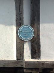 Photo of Overhangs blue plaque