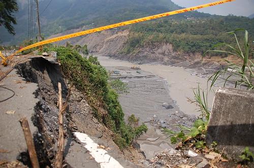 圖為六龜地區之莫拉克災情。彭瑞祥攝。