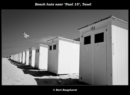 Waiting Beach Huts in the early morning ..