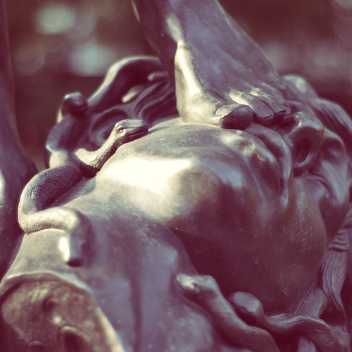 Perseus with the head of Medusa by Theodor Charles Gruyere (1814-55). Ujazdów Park, Warsaw. (detail 1/9)