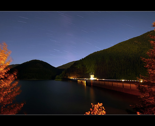 Star Trails Over Detroit Dam