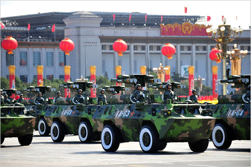Military vehicles on display during the national celebrations of the 60th anniversary of the People's Republic of China. by Pan-African News Wire File Photos
