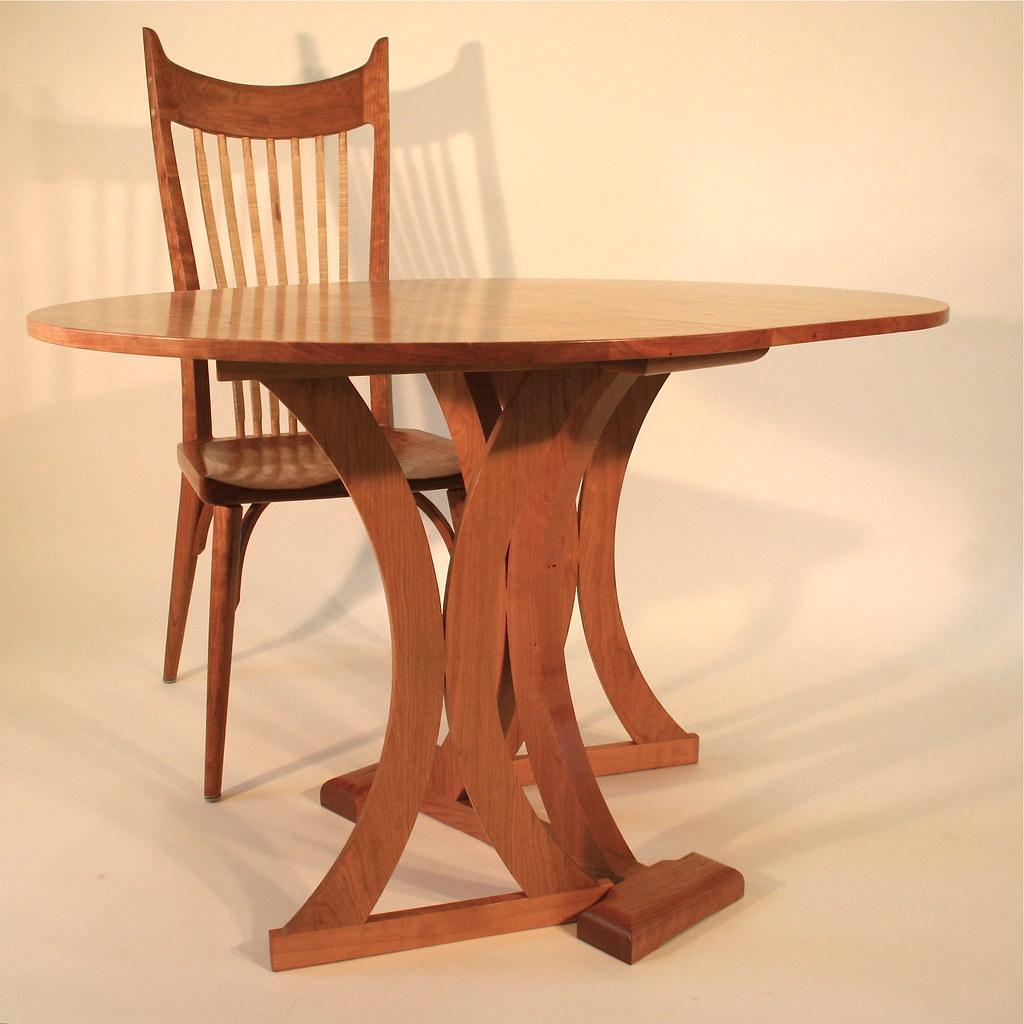 Cherry Gate Leg Oval Table & Chair