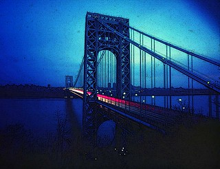 Pinhole Image of The George Washington Bridge