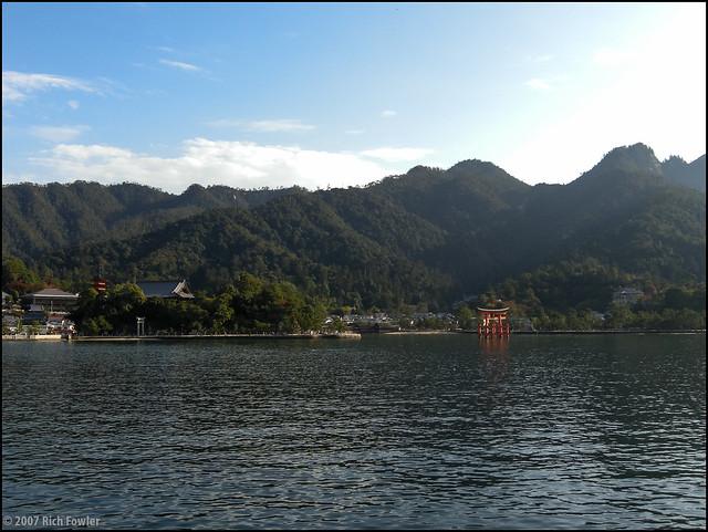 Approaching Miyajima by Ferry