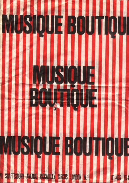 Musique Boutique - London - LP Bag - Late 1970s