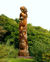 carving, totem pole, art, chainsaw carving, tree, sculpture, tiki, statue,