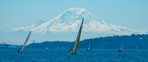Sailboats against the Mountain