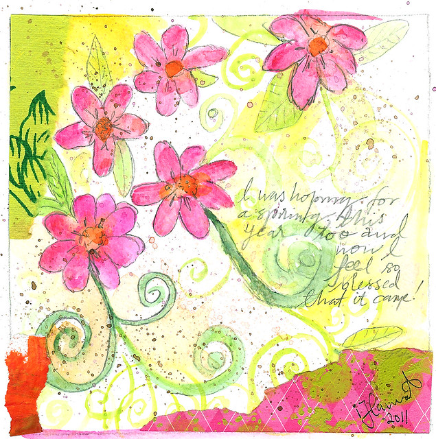 Blessed spring by iHanna for Daily Art Card 2011, 2011-05-05