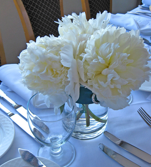 White peony centerpiece flickr photo sharing