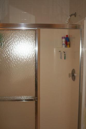 Floor Drain In Upstairs Bathroom : Leak from upstairs shower terry love plumbing remodel