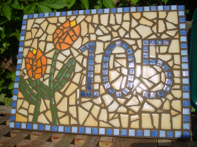 Tulips (Mosaic House Number 105) Grouted | Flickr - Photo Sharing!