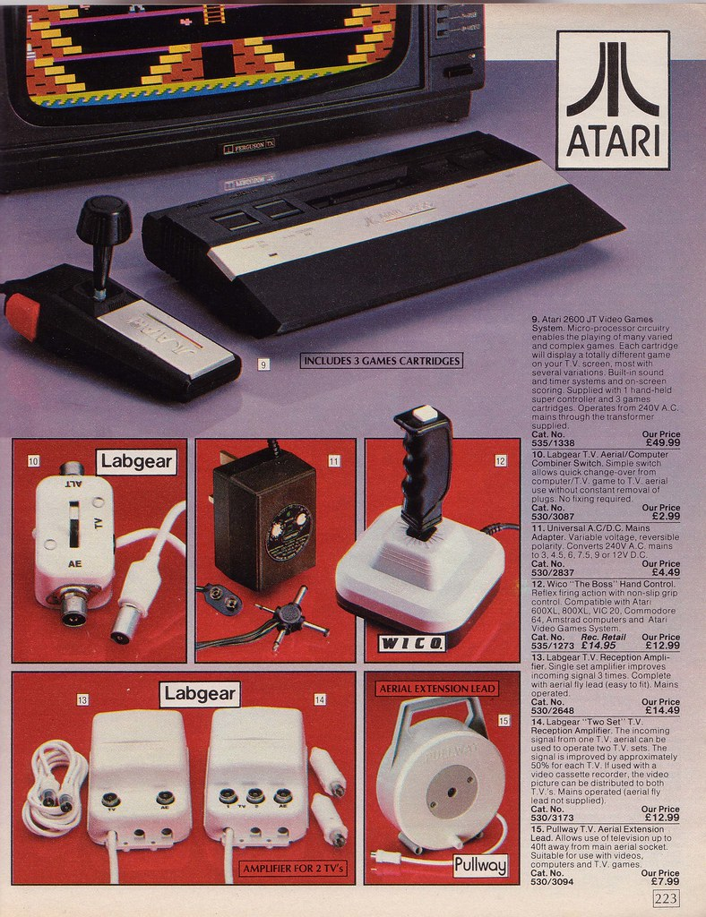 Vintage Vacuum, Argos Catalogue items from 1985 Stock Photo
