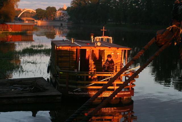 Una sauna-barco