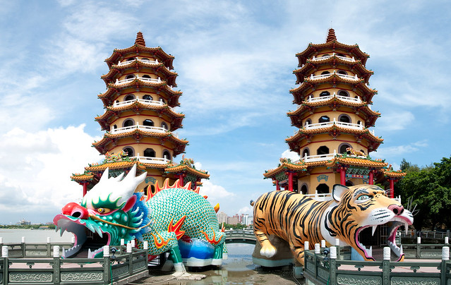 Dragon And Tiger Pagodas A Lovely Trip To Kaohsiung I
