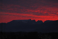 Glacier Silhouette Sunset