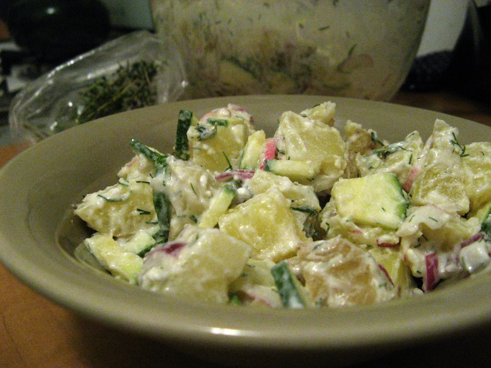 Radish-Cucumber-Curd Salad