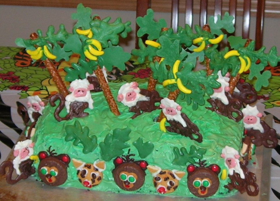Cake Designs Jungle : Cake Ideas: Jungle Cake