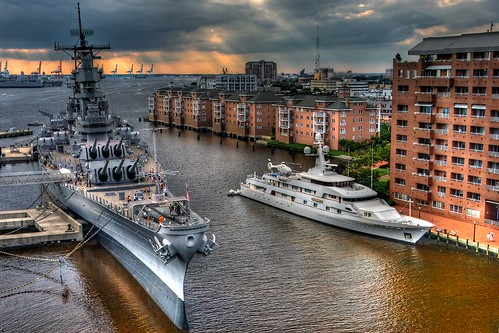 sunset virginia harbor ship norfolk navy july va july4th naval hdr usswisconsin hamptonroads nauticus tidewater freemasonstreet highdynamicresolution ysplix hdraward battlleship flickrunitedaward whitecloudyacht harborfestnorfolk harborfestnorfolk2009 harborfestnorfolk2009pictures