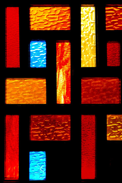Window Detail, The Flame Steakhouse (1958), Route 66, Countryside, IL., 2008