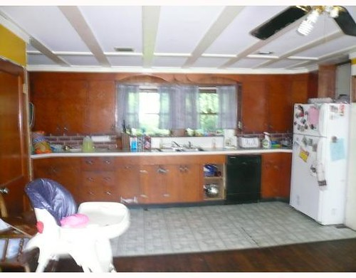 realtor's photo of the kitchen, 2007