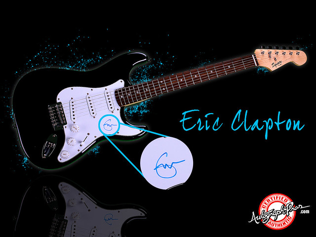 eric clapton autograph guitar wallpaper www autographpros flickr photo sharing. Black Bedroom Furniture Sets. Home Design Ideas