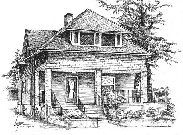 Drawing  Old Houses http://www.flickr.com/photos/bayaniartist/3652114822/