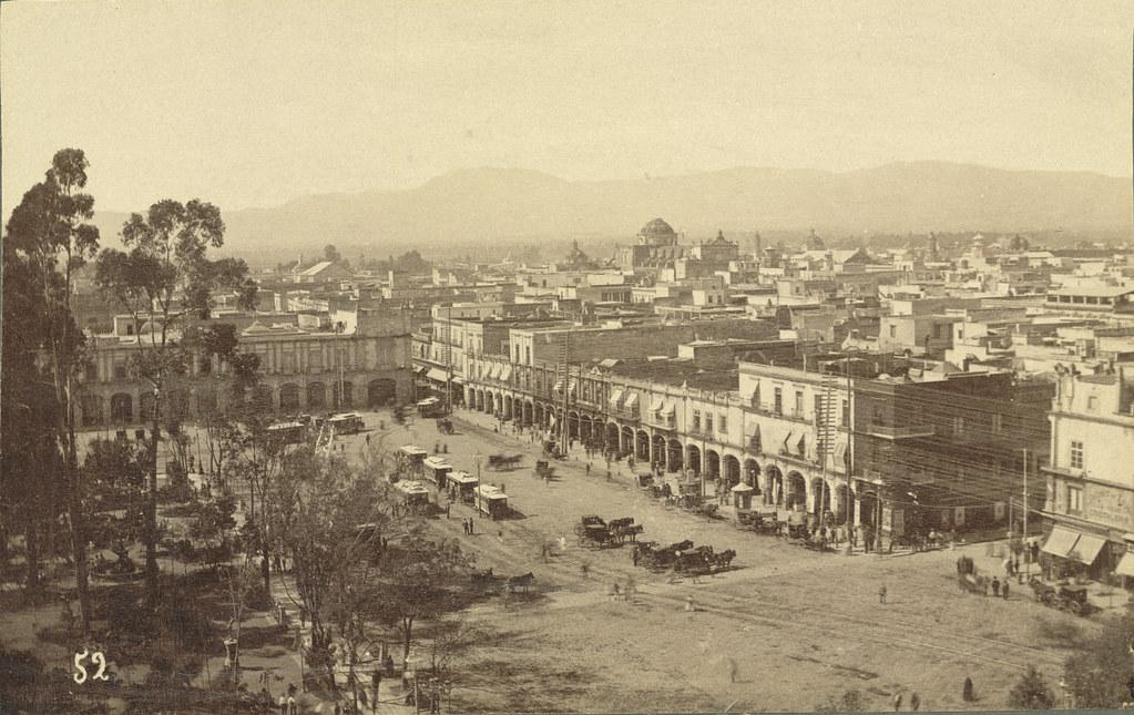 Mexico City, Zócalo Square. The Arcades