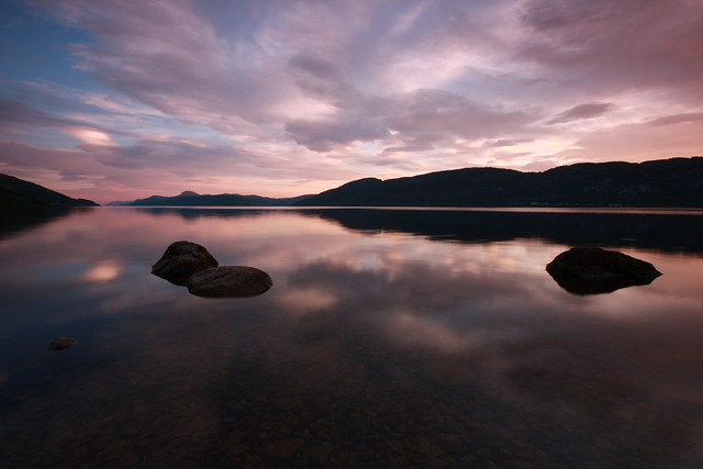 Loch Ness Sunset.