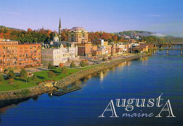 Augusta Maine postcard - available