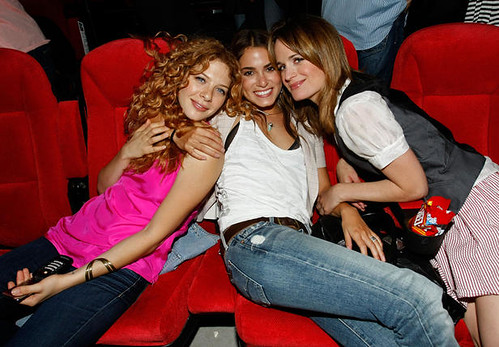 Rachelle Lefevre, Nikki Reed and Elizabeth Reaser attend the Summit Entertainment Twilight Fan Experience screening during the 2009 Comic-Con International - 07/23/2009