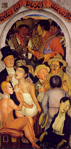 Night of the Rich by Diego Rivera-1928