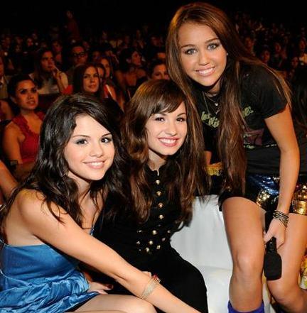 Selena Gomez, Demi Lovato, && Miley Cyrus