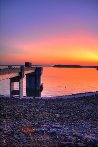 light sunset summer sky sun lake beach water beauty night dark evening pier lawrence rocks waves august shore kansas 2009 lawrencekansas clintonlake