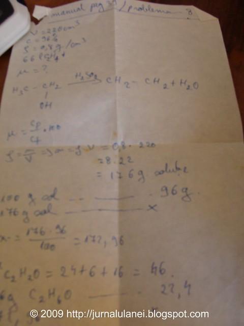 o problema de chimie