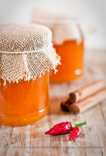 Marmellata di melone alla cannella e peperoncino-Melon jam with cinnamom and chili