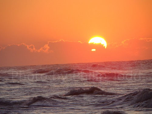 ocean sky sun beach water sunrise nc waves north carolina rise holden