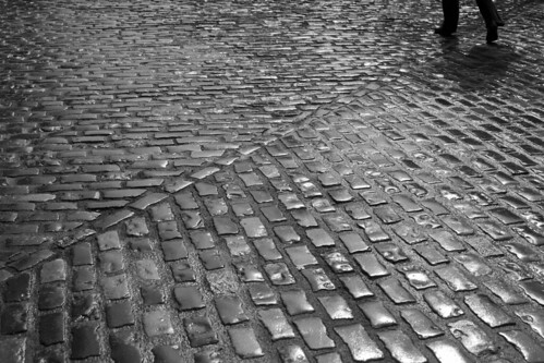 Cobblestone crossing