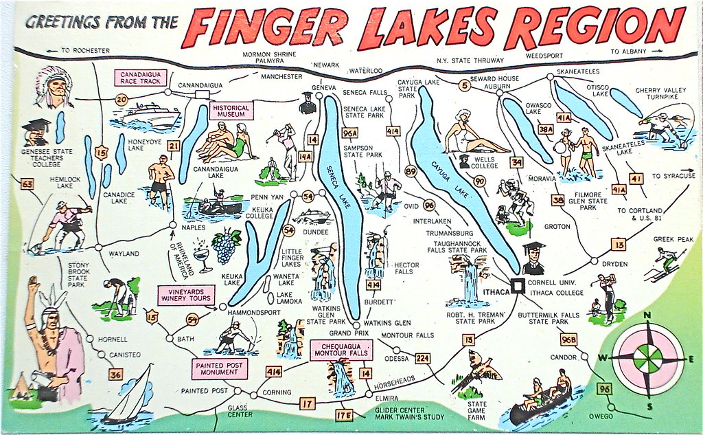 Greetings from the Finger Lakes Region postcard   Back text:…   Flickr
