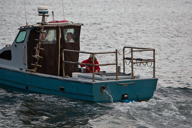 Small personal fishing boat returns to harbor youngster for Personal fishing boat