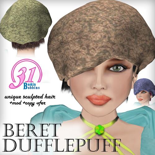 BB31 Baggy Dufflepuff Beret