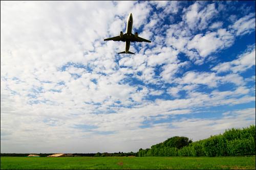 Plane and blue sky by ignashka