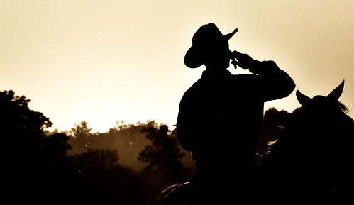 sunset horse color hat silhouette sepia georgia cowboy tennessee cellphone cell august rope arena miller rodeo 2009 saddle stylized stjude