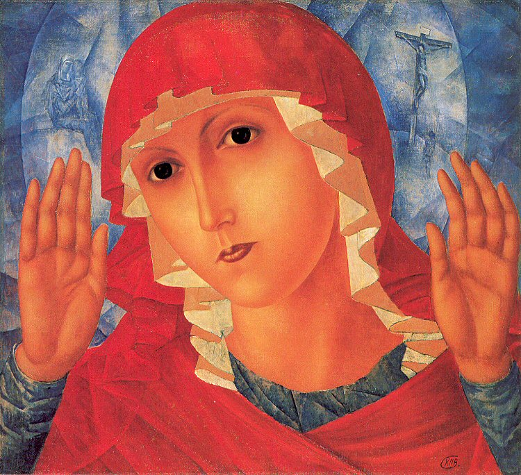 Petrov-Vodkin, Kuzma (1878-1939) - 1914-15 Our Lady - Tenderness of Cruel Hearts