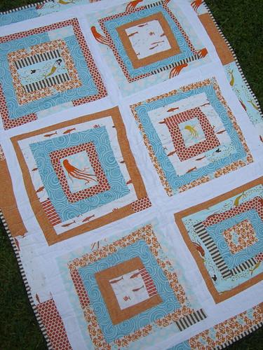 Mendocino wonky improv quilt