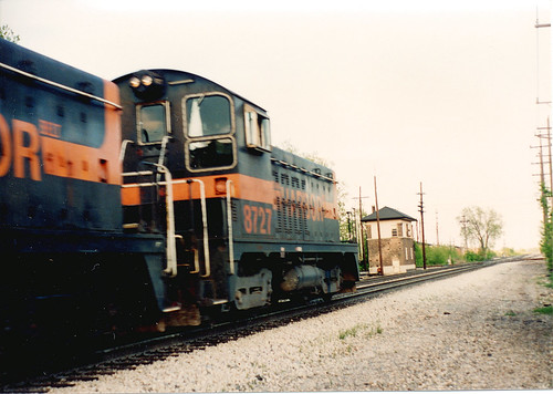 Southbound Indiana Harbor Belt Railroad transfer train. Chicago Ridge Illinois. May 1990. by Eddie from Chicago