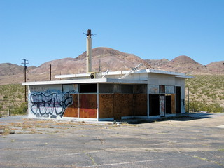 Abandoned Gas Station, Mojave Desert, CA